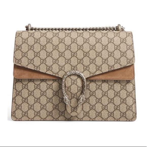 Gucci Handbags - Gucci Dionysus Large Suede Purse